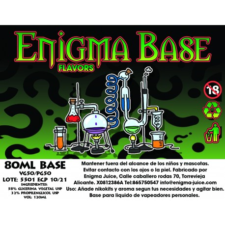 Enigma Base 80ml 50VG/50PG