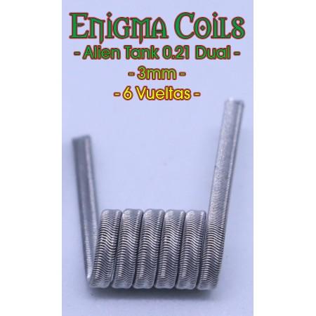 Alien Tank 0.21 Dual 3mm Enigma Coils
