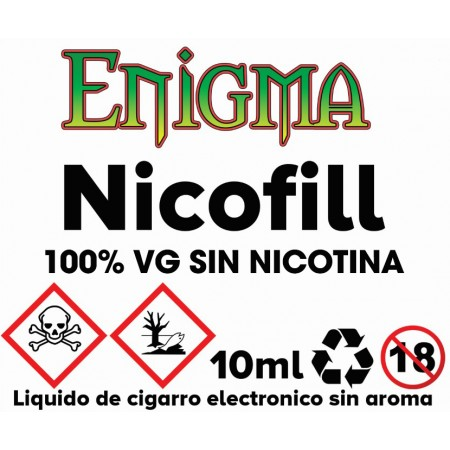 NIKOKIT/NIKOFILL 10ML 0MG ENIGMA/OIL4VAP